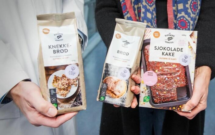 «Det Glutenfrie Verksted» gir én krone per solgte bakepose til cøliakiforskning. (Foto: Det Glutenfrie Verksted)