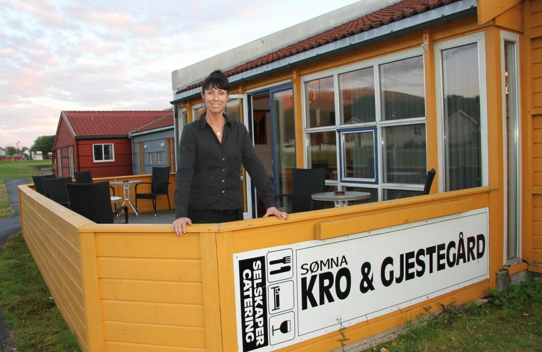 Karina Monsen har ledet Sømna Kro & Gjestegård i en årrekke. (Foto: Morten Holt)