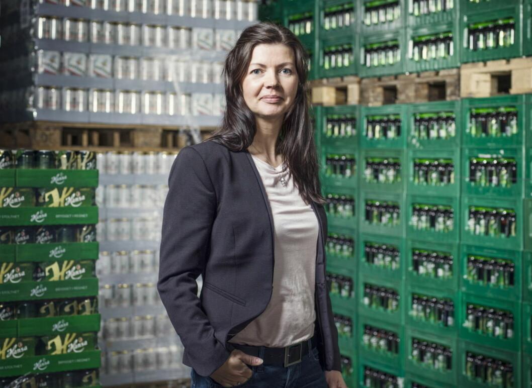 Kommunikasjonsansvarlig i Hansa Borg Bryggerier, Anette Karlsen. (Foto: Hansa Borg Bryggerier)