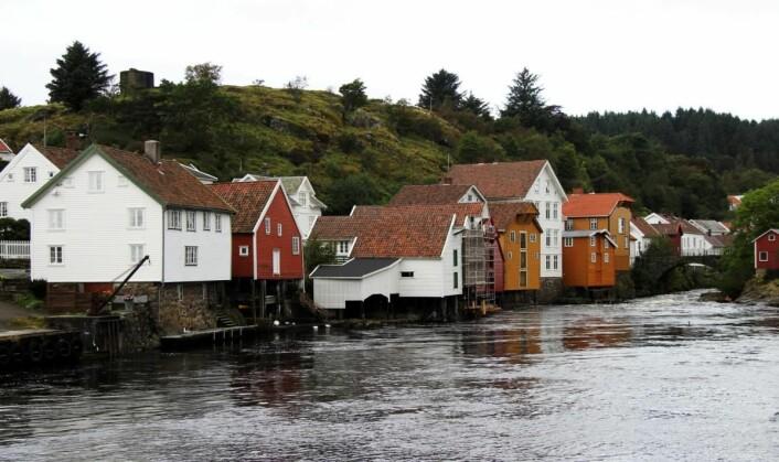 Sogndalstrand ligger helt ute i havgapet sør i Rogaland. (Foto: Morten Holt)