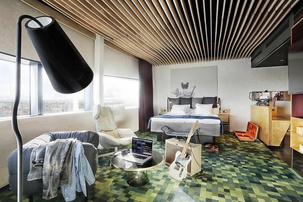 Fra designhotellet U&Me Hotel i Umeå. (Foto: Hotellet)