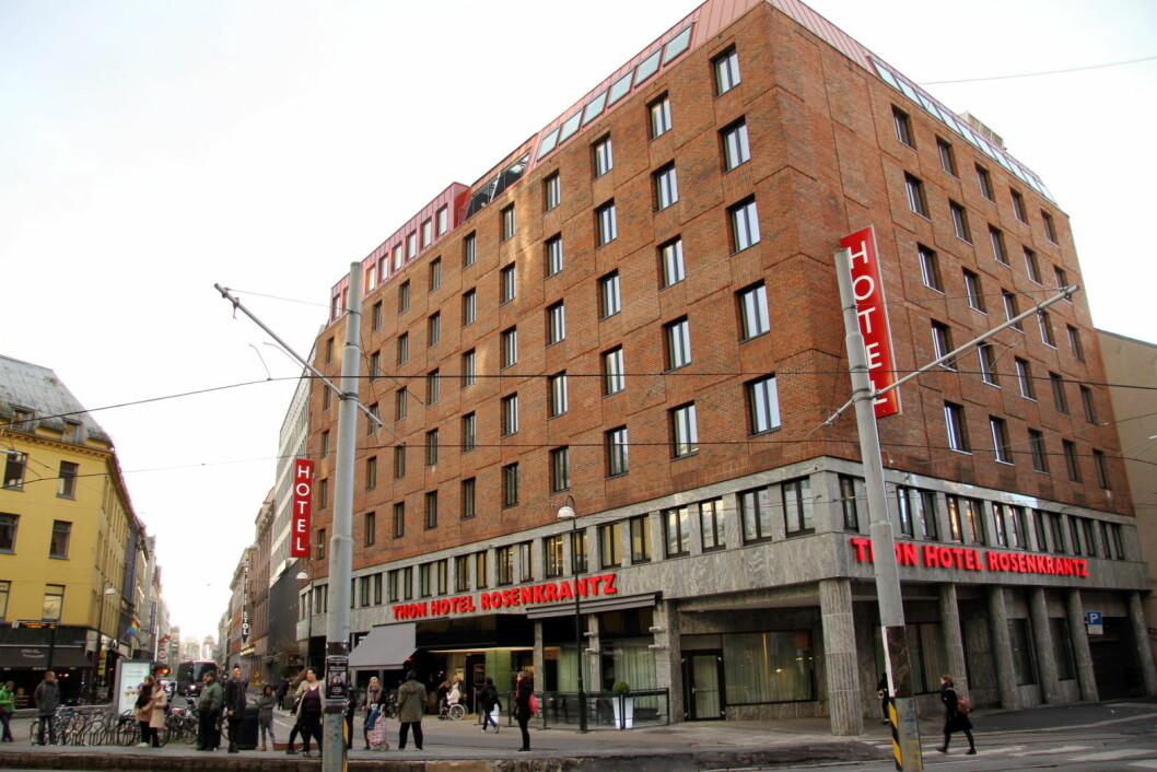 Thon Hotel Rosenkrantz i Oslo topper TripAdvisoris Travelers Choice 2017 i Norge. (Foto: Morten Holt)