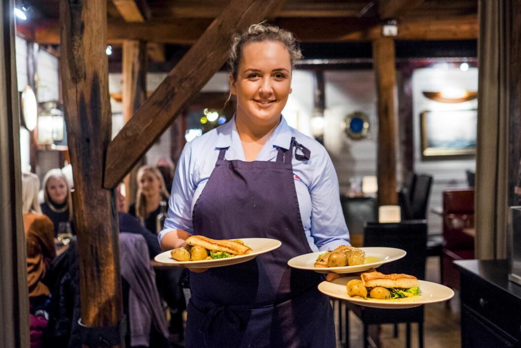 Julie Edvardsen Eriksen på Sjøhuset Restaurant var en av dem som serverte under fjorårets festival i Kristiansand. (Foto: Tor Erik Schrøder)