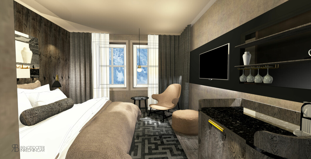 Fra nye Funken Lodge. (Illustrasjon: Nordic Hotels & Resorts)