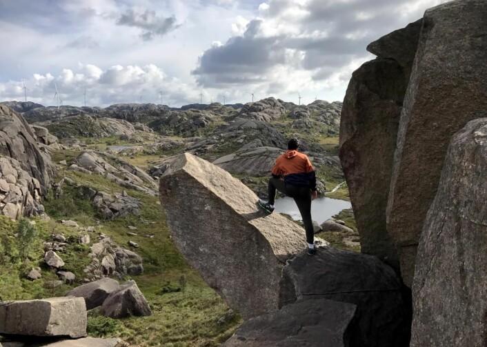Trollpikken har blitt en attraksjon. (Foto: Morten Holt)