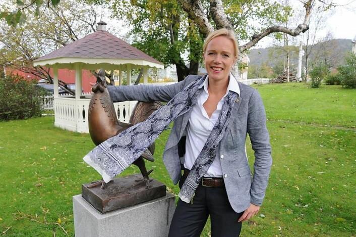 Ellen Løvold Strand er femte generasjon som leder Fru Haugans Hotel. Hun tok over som hotelldirektør i 2014. (Foto: Tor Martin Leines Nordaas)