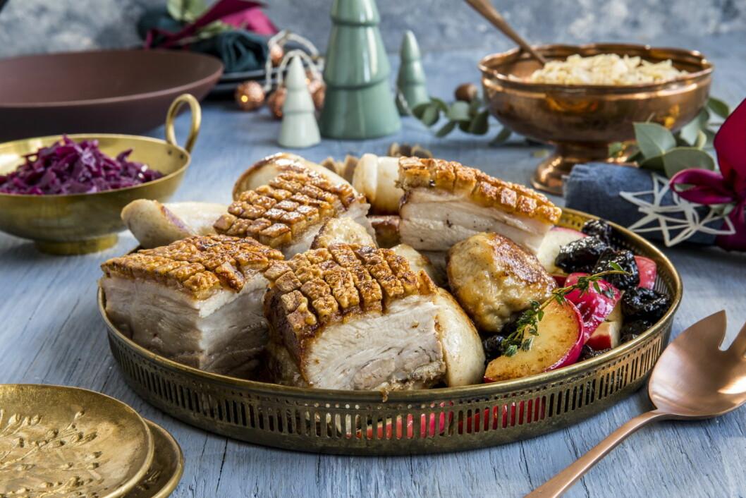 44 prosent av nordmenn spiser ribbe på julaften. (Foto: Matprat.no)