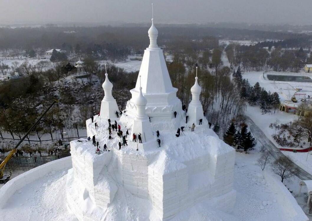 Isskulpturene i Harbin er spektakulære. (Foto: Beitostølen Resort)
