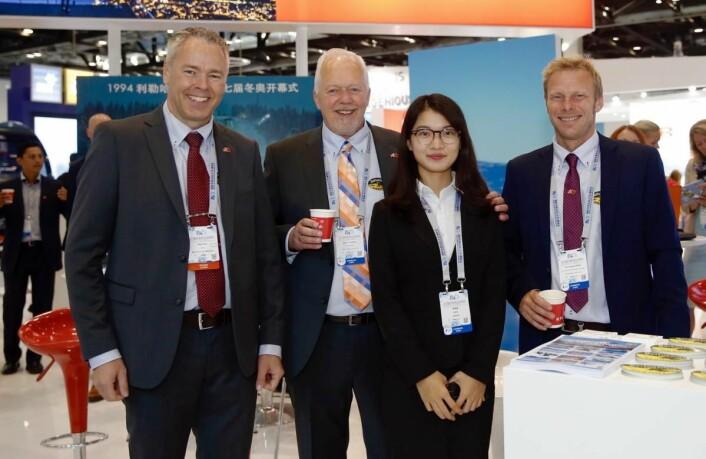 Beitostølen-delegasjonen på den første Kina-reisen til Beijing i september:Fra venstre: Atle Hovi, Bjørn B Jacobsen og Tor Håvard Kolbu. (Foto: DestinasjonsKirurgene)
