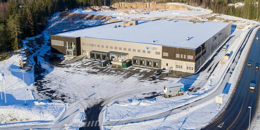 Det nye sentrallageret i Lier. (Foto: Cater Storkjøkken)