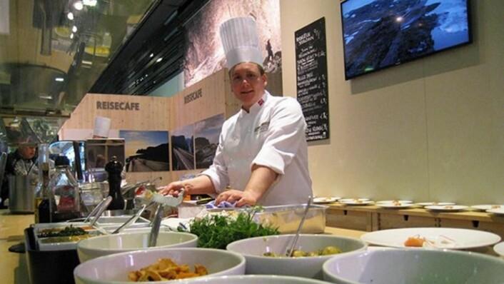 Kjøkkenet i den norske restauranten i Berlin i 2017. (Foto: Landbruks- og matdepartementet)