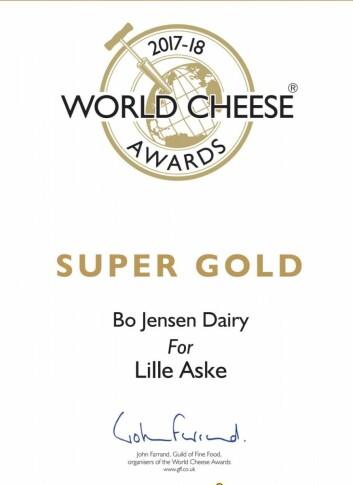 Super Gold til Lille Aske i World Cheese Awards.