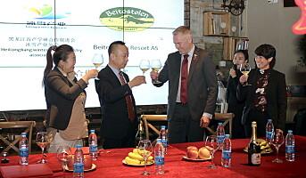 Signerte historisk Kina-avtale