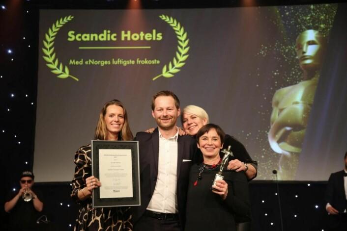 Gull til Scandic for årets luftigste frokost. (Foto: Camilla Bergan/HSMAI)