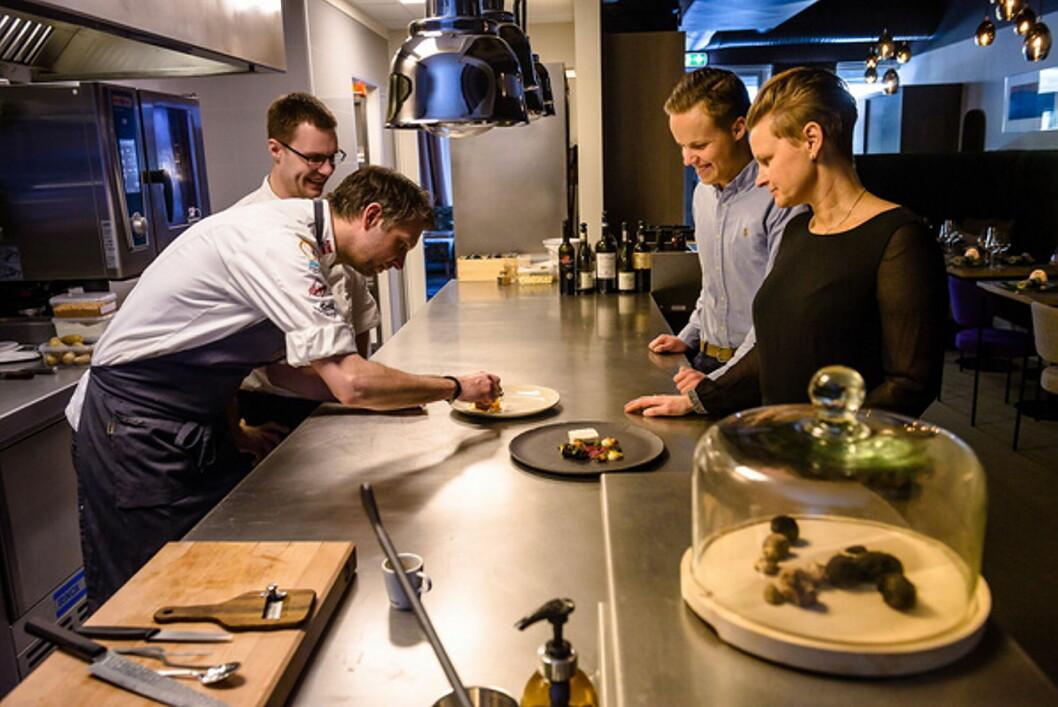 Eva-Linda og Espen Ramnestedt for svært gode tilbakemeldinger for sin restaurant Smak i Tromsø. (Foto: Restaurant Smak)