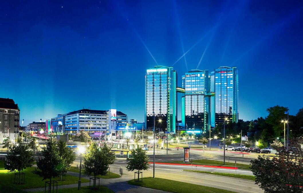 Gothia Towers i Göteborg er rangert blant de 100 beste forretningsreisehotellene i verden. (Foto: Gothia Towers)