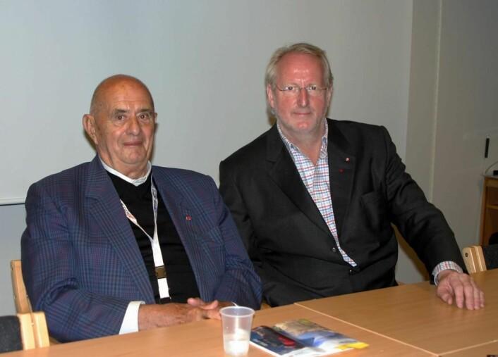 Paul Bocuse og Eyvind Hellstrøm. (Foto: Morten Holt)