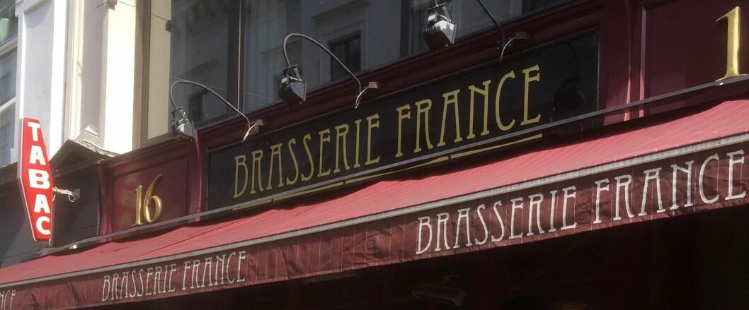Brasserie France er kåret til gjestenes favorittrestaurant i Norge av Bookatable by Michelin. (Foto: Arkiv)