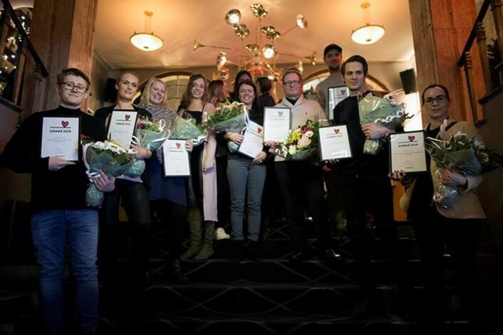 Representanter fra alle restaurantene som fikk pris på Bookatable Diner Awards 2018. (Foto: Bookatable)