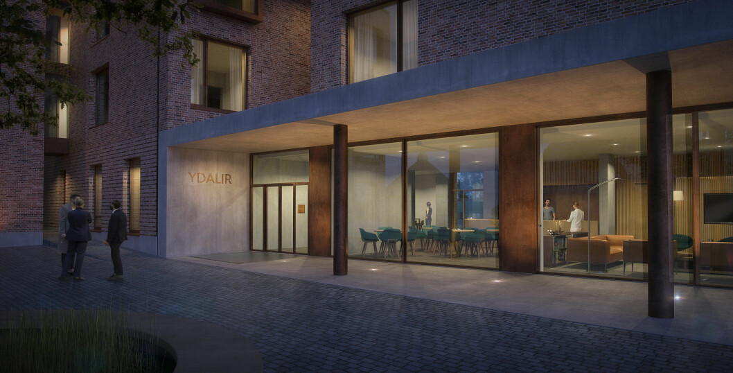 Snart åpner Ydalir Hotel på Campus Ullandhaug på Universitetet i Stavanger (UiS).(Illustrasjon: Ydalir Hotel)