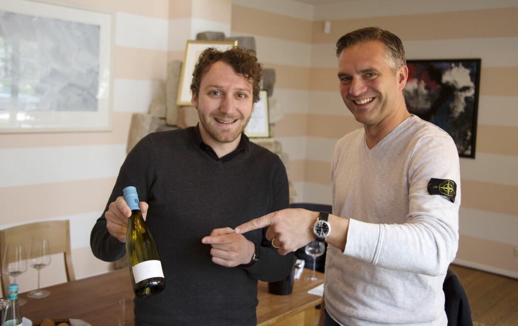 Simon Zimmermann (til venstre) sammen med Philipp Wittmann. (Foto: Jørn G. Broll)