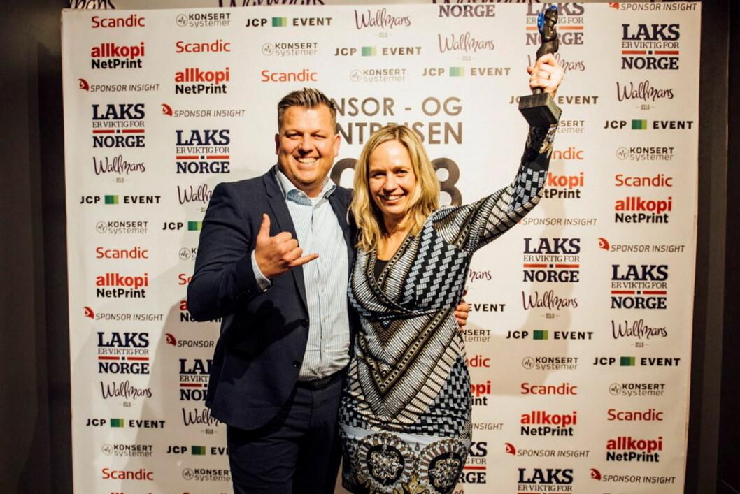 Sponsor- og eventprisen. Her med ansvarlig for «Byens Beste Byrå», Mette Snekvik Dæhli. (Foto: Nordic Choice Hotels)