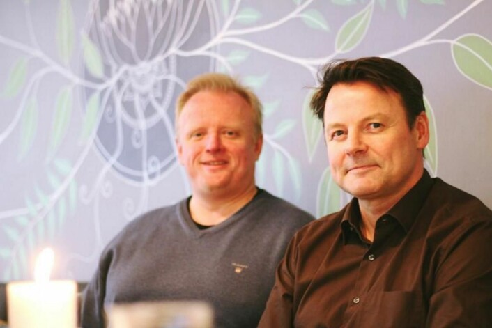 Henning Ross Vestavik og Morten Johansen i arrangementskomiteen for Spis ute-uka. (Foto: Sopis ute-uka)
