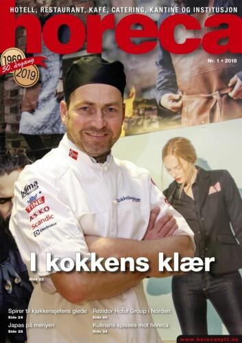 Omslaget på Horeca nummer 1 2018. (Foto: Morten Holt/layout: Tove Sissel Larsgård)