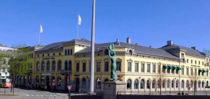Børsen Selskapslokale i Drammen. (Foto: De Historiske)