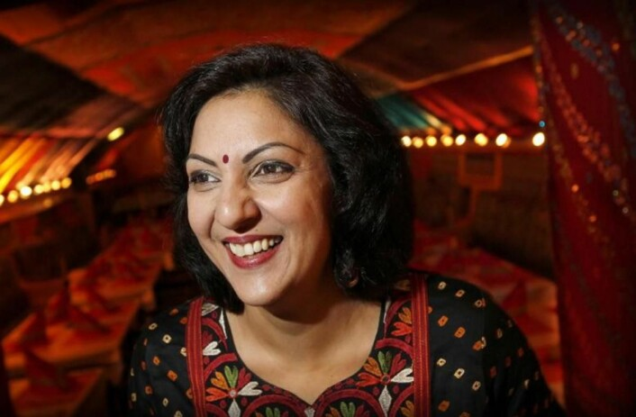 Daglig leder for Restaurant Mother India i Kristiansand, Sarita Sehjpal. Restauranten solgte nesten 5500 retter i løpet av festivaluka. (Foto: Spis ute-uka/Kristian Hole)