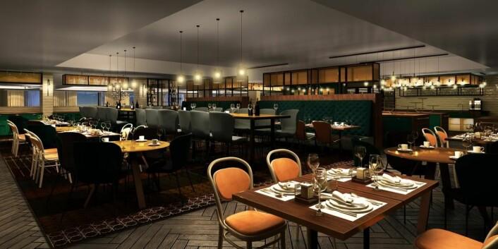 Restauranten på Scandic Hell skal bli ny. (Foto: Scandic Hotels)