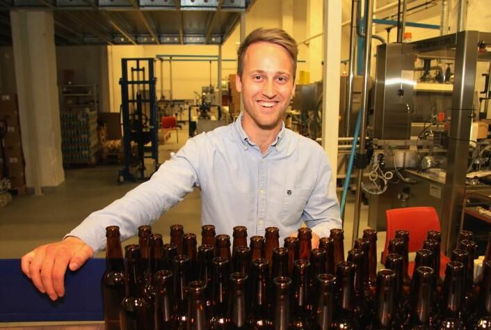 Andreas Thorvardarson. i bryggeriet. (Foto: Morten Holt)