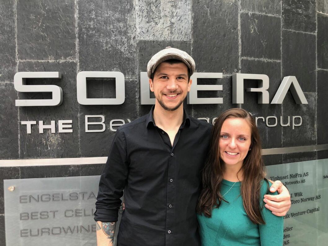 Sebastian Rönnebring og Kine Rasmussen er nyansatt hos Solera Uteliv. (Foto: Solera)