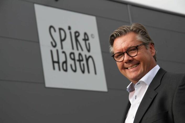 Daglig leder og hovedeier for Spirehagen, Frode Hope. (Foto: Morten Holt)