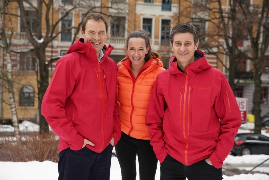 Norwegian Adventure Company: Fra venstre Arild Kaale, Nina Kristine Madsen-Geelmuyden og Fredrik Geelmuyden. (Foto: Ole Sundfær Haug)