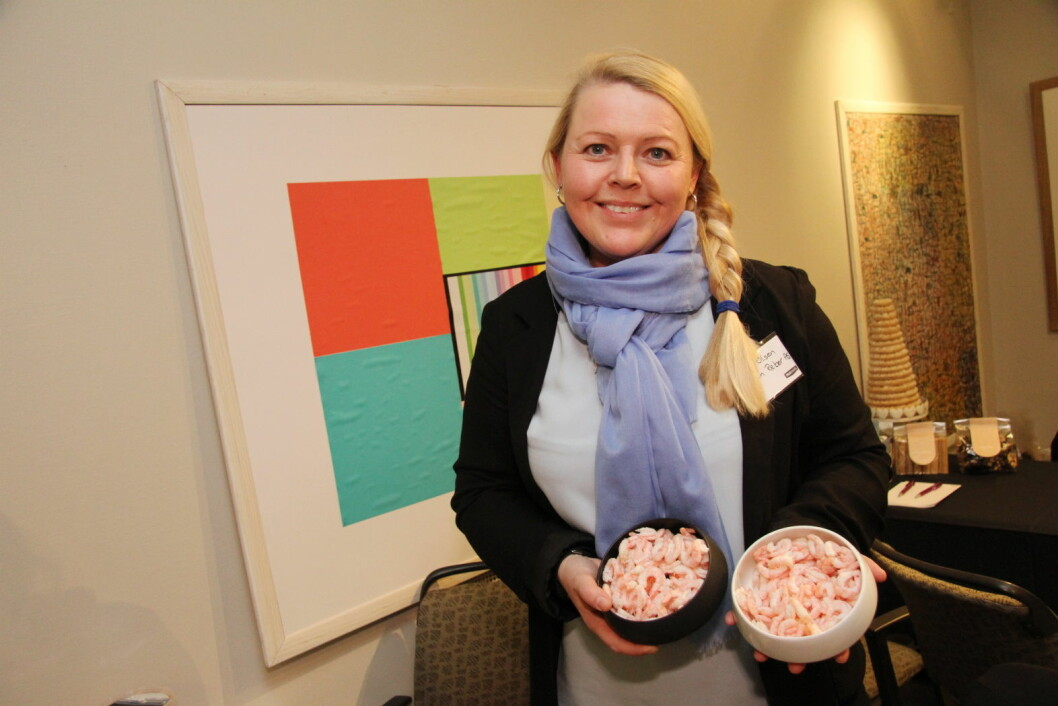Daglig leder for Lyngen Reker, Karin Olsen. (Foto: Morten Holt)