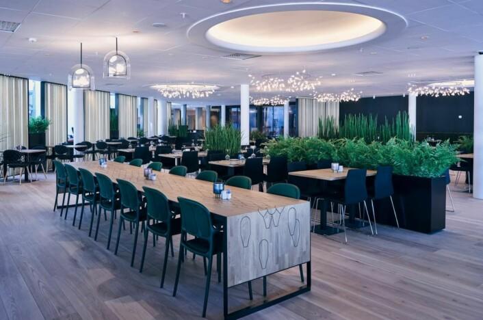 Den nye restauranten på Quality Airport Hotel Gardermoen. (Foto: Jonas Berglund)