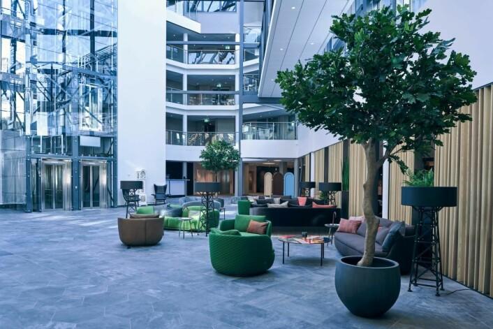 Quality Hotels flaggskip Quality Airport Hotel Gardermoen gjenåpnet i dag dørene etter massiv utbygging. (Foto: Jonas Berglund)