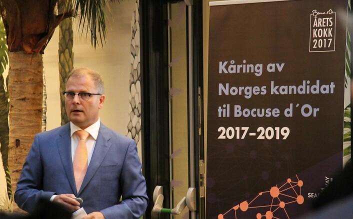 Daglig leder for Stiftelsen Bocuse d'Or Norge, Arne Sørvig. (Foto: Morten Holt)