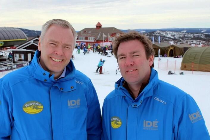 Brødrene Atle (t.v) og Bjørnar Hovi eier og driver Beitostølen Resort. Kraftig trafikkvekst i 2016 og 2017, knallsterk start på 2018, og nå med rekordomsetning i påsken. Offensive satsinger betaler seg, også på 900 meter i fjellet.(Foto: DestinasjonsKirurgene)