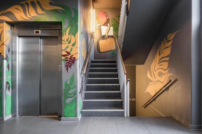 Gatekunst på Smarthotel Forus. (Foto: Smarthotel)