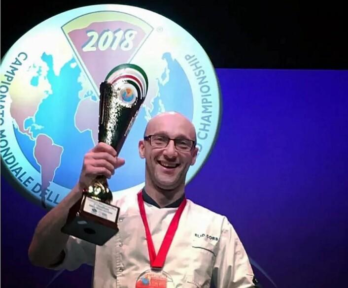 Elio Corsi sikret sølv iPizza World Championship 2018. (Foto: Tobias Schelin)