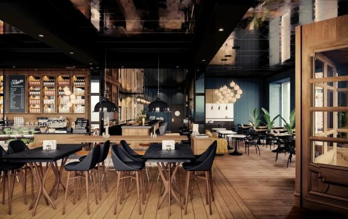 Atlas Brasserie og Café.(Illustrasjon: Amerikalinjen)