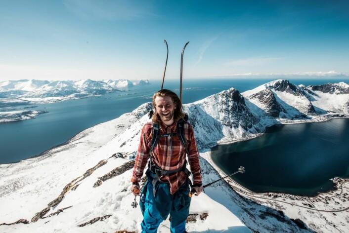 Til topps på Senja. (Foto: Norwegian Adventure Company)