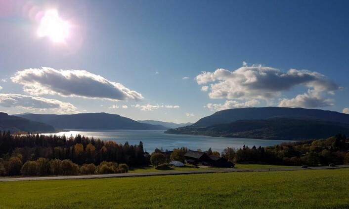 Utsikt utover Utskarpen, en fjordarm av Ranfjorden. (Foto: Privat)