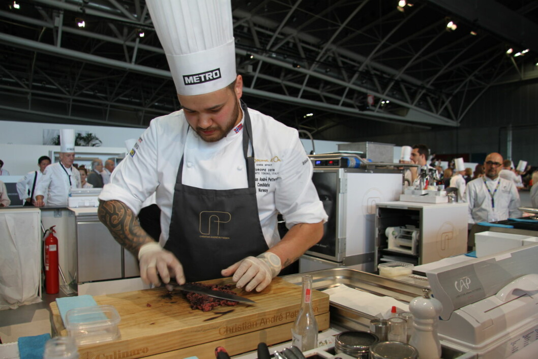 Christian A. Pettersen i aksjon i Torino. (Foto: Morten Holt)