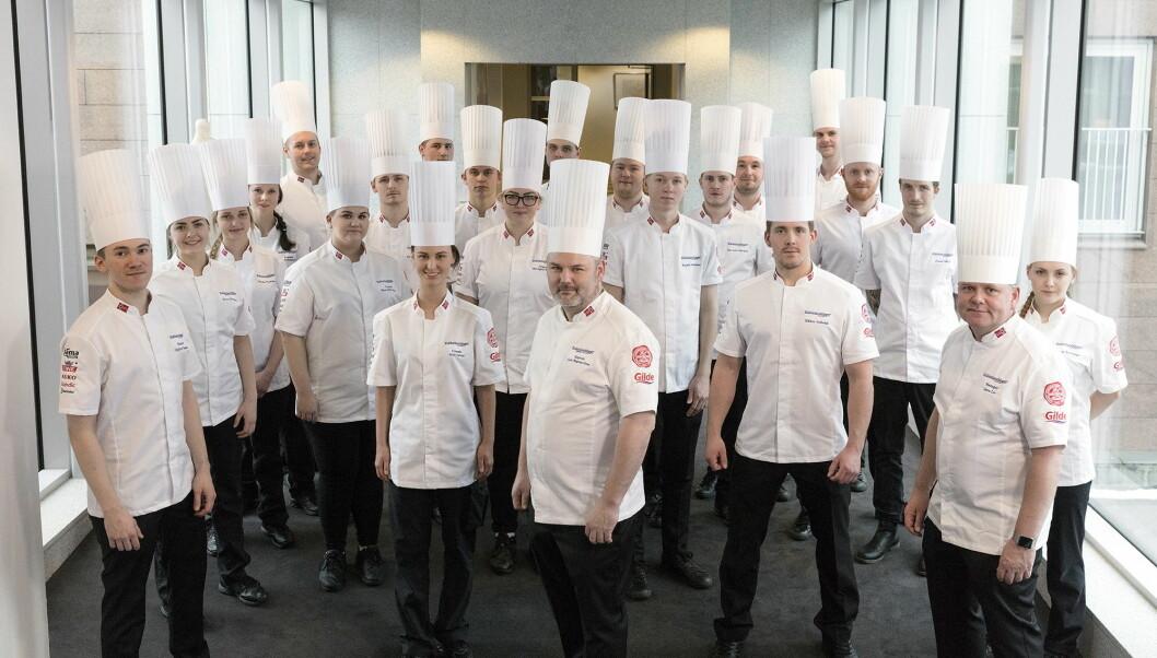 De norske kokkelandslagene, som skal i aksjon i Luxembourg i slutten av november. (Foto: Nordsveenfoto)