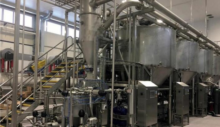 Fra Salsus AS sin fabrikk på Kongsvinger, som offisielt åpnes 8. mai. (Foto: Kjell Trøsvik)