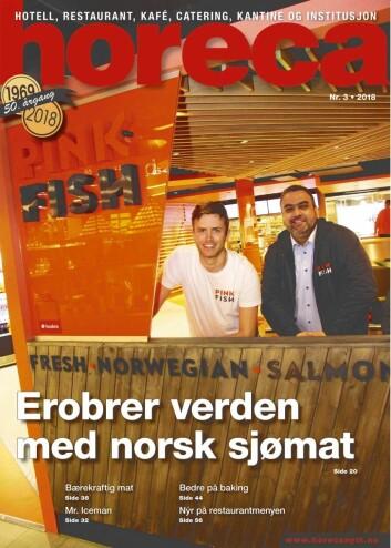 Omslaget på Horecas tredje utgave i 2018. (Foto: Morten Holt/layout: Tove Sissel Larsgård)