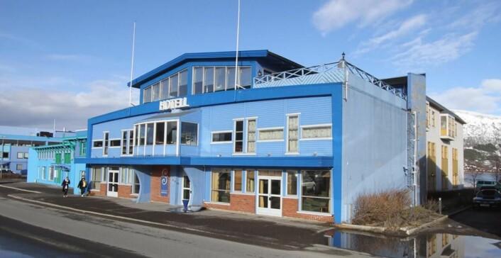 """Strand Hotell i Sortland, """"den blå byen"""" i Nordland. (Foto: Strand Hotell)"""
